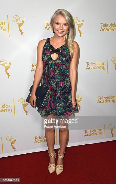 Actress Kelli Goss attends Television Academy's Daytime Programming Peer Group's 41st Annual Daytime Emmy Nominees Celebration at The London West...