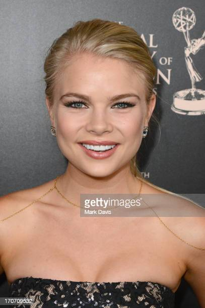 Actress Kelli Goss attends The 40th Annual Daytime Emmy Awards at The Beverly Hilton Hotel on June 16 2013 in Beverly Hills California