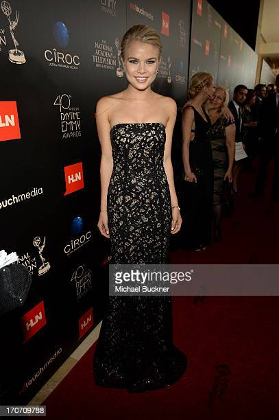 Actress Kelli Goss attends the 40th Annual Daytime Emmy Awards at the Beverly Hilton Hotel on June 16 2013 in Beverly Hills California...