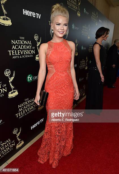 Actress Kelli Goss attends The 41st Annual Daytime Emmy Awards at The Beverly Hilton Hotel on June 22 2014 in Beverly Hills California