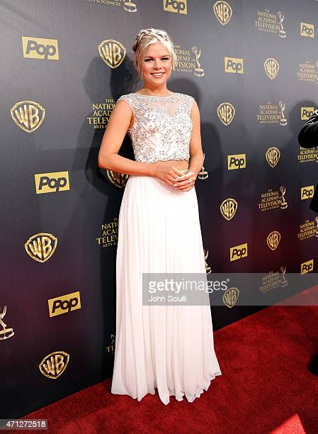 Actress Kelli Goss attends The 42nd Annual Daytime Emmy Awards at Warner Bros Studios on April 26 2015 in Burbank California