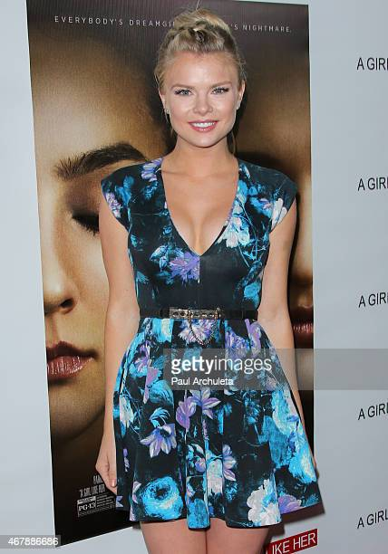 Actress Kelli Goss attends the special screening of A Girl Like Her at The ArcLight Hollywood on March 27 2015 in Hollywood California