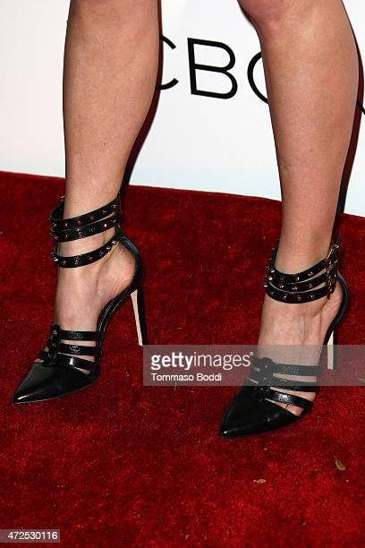 Actress Kelli Goss shoe detail attends the NYLON Magazine And BCBGeneration Annual May Young Hollywood Issue Party held at HYDE Sunset Kitchen...