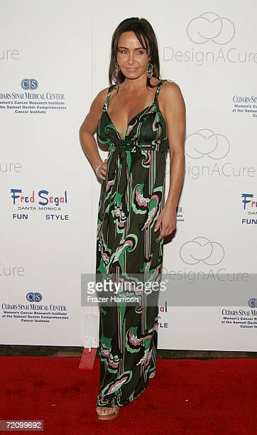 "Actress Kelli McCarty arrives at the inaugural ""Design A Cure"" charity event benefiting Cedars-Sinai Women's Cancer Research Institute, held at a..."