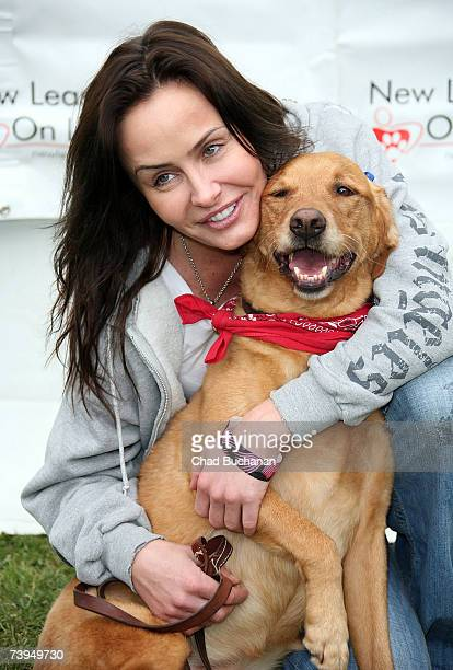 Actress Kelli McCarty attends the 6th Annual Nuts for Mutts Dog Show and Pet Fair 2007 at Pierce College on April 22 2007 in Woodland Hills California