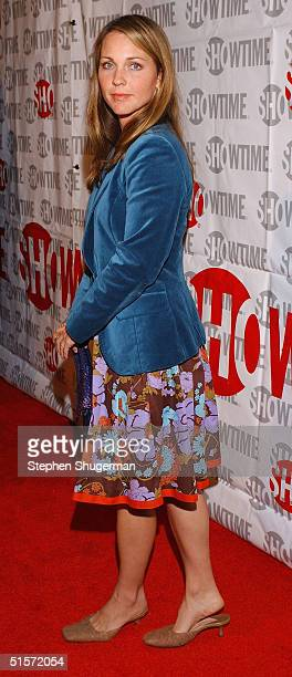 """Actress Kelli Williams attends the premiere of the new Showtime Original Series """"Huff"""" at the Crest Theatre on October 25, 2004 in Los Angeles,..."""