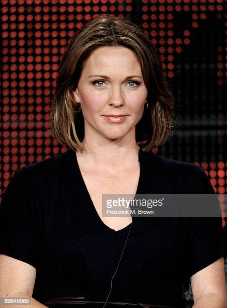 """Actress Kelli Williams of the television show """"Lie to Me"""" speaks during the Fox Network portion of the 2009 Summer Television Critics Association..."""