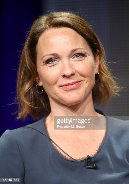 Actress Kelli Williams speaks onstage during the 'Ties That Bind' panel discussion at the UP Entertainment portion of the 2015 Summer TCA Tour at The...