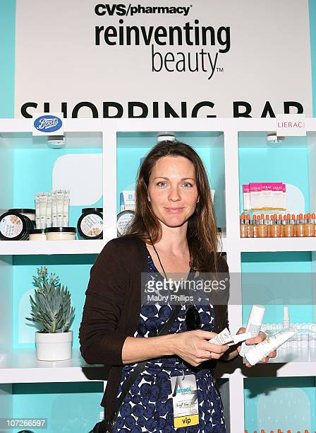 Actress Kelli Williams with CVS at the Access Hollywood Stuff You Must Lounge Presented by On 3 Productions at Sofitel Hotel on January 11 2008 in...