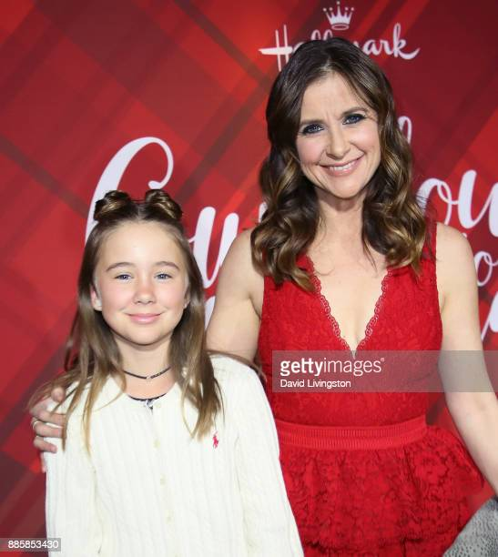 Actress Kellie Martin and daughter Margaret Heather Christian attend a screening of Hallmark Channel's Christmas at Holly Lodge at The Grove on...