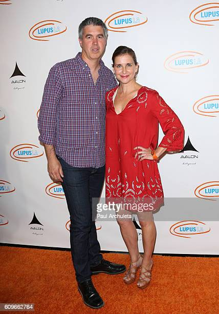 Actress Kellie Martin and her Husband Keith Christian attend the 8th annual Get Lucky For Lupus LA celebrity poker tournament and party at Avalon on...