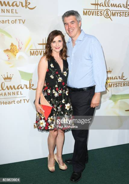 Actress Kellie Martin and her Husband Keith Christian attend the Hallmark Channel And Hallmark Movies And Mysteries 2017 Summer TCA Tour at on July...