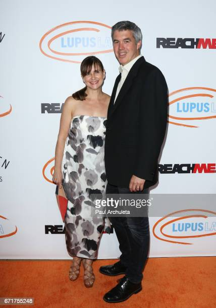 Actress Kellie Martin and her Husband Keith Christian attend the Lupus LA's 2017 Orange Ball Rocket To A Cure at The California Science Center on...