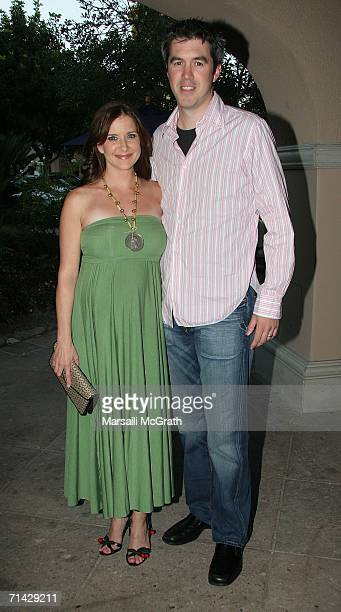 Actress Kellie Martin and her husband Keith Christian attends the Hallmark Channel 2006 summer TCA party at the Ritz Carlton on July 12 2006 in...