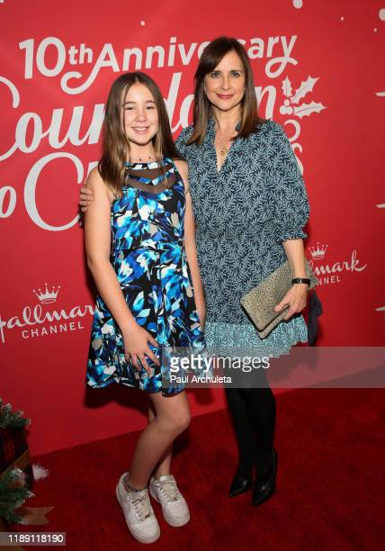 Actress Kellie Martin and his daughter Margaret Heather Christian attend Hallmark Channel's 10th Anniversary of Countdown To Christmas screening and...