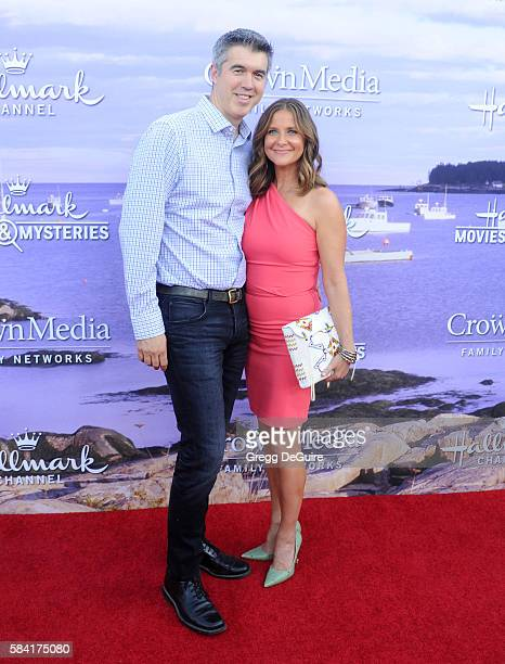 Actress Kellie Martin and husband Keith Christian arrive at the Hallmark Channel and Hallmark Movies and Mysteries Summer 2016 TCA Press Tour Event...