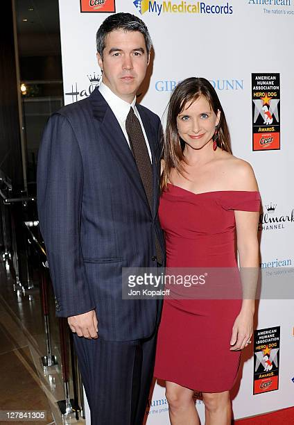 Actress Kellie Martin and husband Keith Christian arrive at the American Humane Association's 1st Annual Hero Dog Awards at The Beverly Hilton hotel...