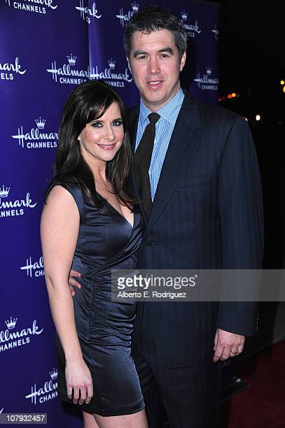 Actress Kellie Martin and husband Keith Christian arrive to Hallmark Channel's 2011 TCA Winter Tour Evening Gala on January 7 2011 in Pasadena...