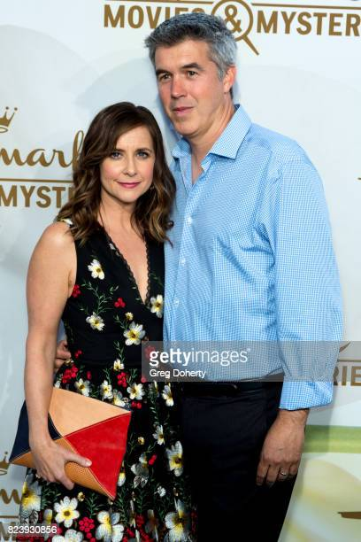 Actress Kellie Martin and husband Keith Christian arrives for the 2017 Summer TCA Tour Hallmark Channel And Hallmark Movies And Mysteries on July 27...