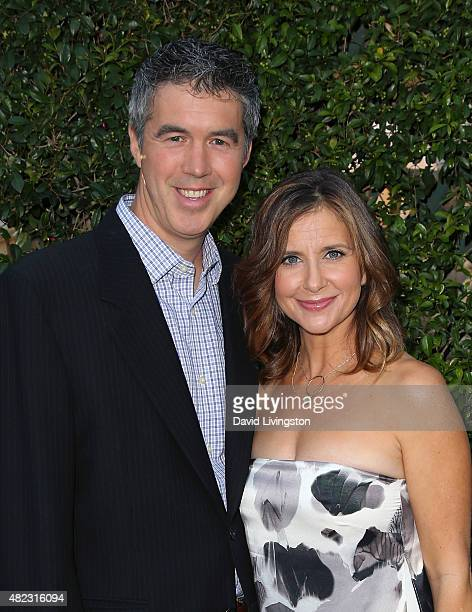 Actress Kellie Martin and husband Keith Christian attend Hallmark Channel and Hallmark Movies and Mysteries at the 2015 Summer TCA Tour at a private...