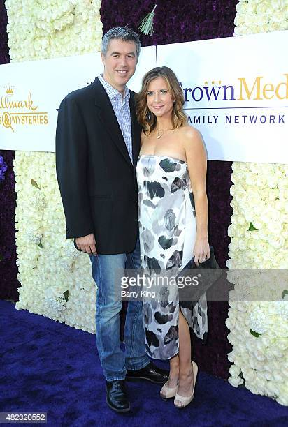 Actress Kellie Martin and husband Keith Christian attend the 2015 Summer TCA Tour Hallmark Channel and Hallmark Movies And Mysteries on July 29 2015...