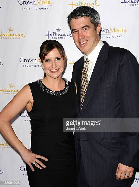 Actress Kellie Martin and husband Keith Christian attend the Hallmark Channel 2013 winter press gala at Huntington Library on January 4 2013 in...
