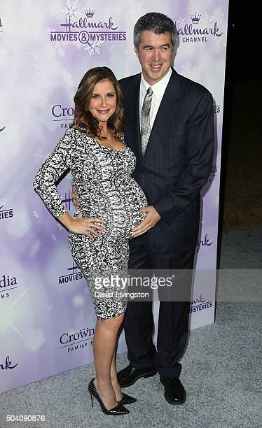 Actress Kellie Martin and husband Keith Christian attend the Hallmark Channel and Hallmark Movies and Mysteries Winter 2016 TCA press tour at...