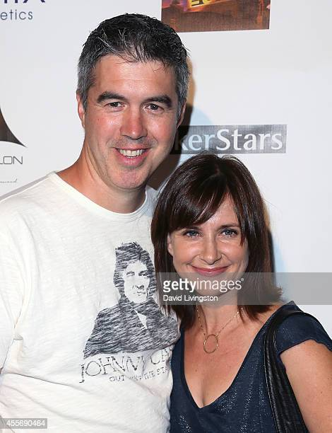 Actress Kellie Martin and husband Keith Christian attend the Stars Get Lucky For Lupus 6th Annual Poker Tournament at Avalon on September 18 2014 in...