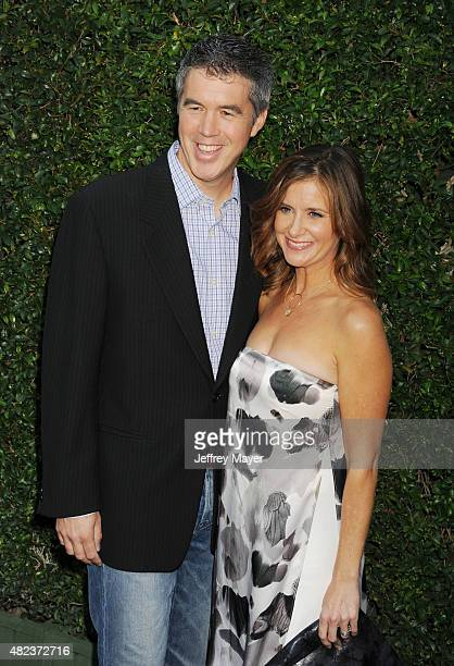 Actress Kellie Martin and husband Keith Christian attend the Summer TCA Tour Hallmark Channel and Hallmark Movies And Mysteries at a private...