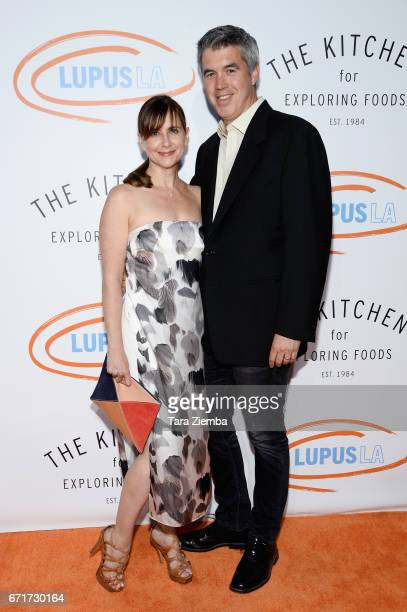Actress Kellie Martin and husband Keith Christian Martin attend Lupus LA's 2017 Orange Ball Rocket To A Cure at California Science Center on April 22...