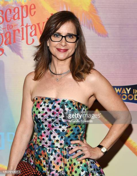 Actress Kellie Martin arrives at Jimmy Buffett's Escape To Margaritaville LA Premiere Engagement at the Dolby Theatre on February 18 2020 in...