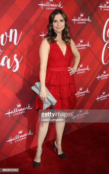 "Actress Kellie Martin attends a screening of Hallmark Channel's ""Christmas at Holly Lodge"" at The Grove on December 4, 2017 in Los Angeles,..."