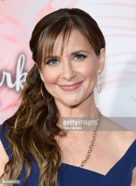 Actress Kellie Martin attends Hallmark Channel and Hallmark Movies and Mysteries Winter 2018 TCA Press Tour at Tournament House on January 13 2018 in...