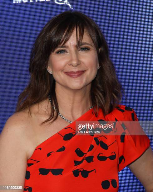 Actress Kellie Martin attends the Hallmark Channel and Hallmark Movies Mysteries summer 2019 TCA press tour event at a Private Residence on July 26...