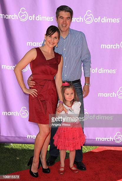 Actress Kellie Martin daughter Margaret Heather Christian and husband Keith Christian attend the 5th Annual March of Dimes celebration of babies...