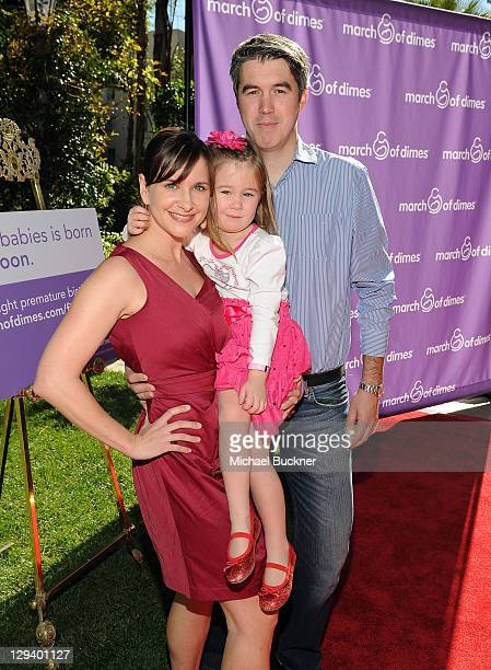 Actress Kellie Martin daughter Margaret Heather Christian and husband Keith Christian attend the March of Dimes Foundation Samantha Harris Host 5th...