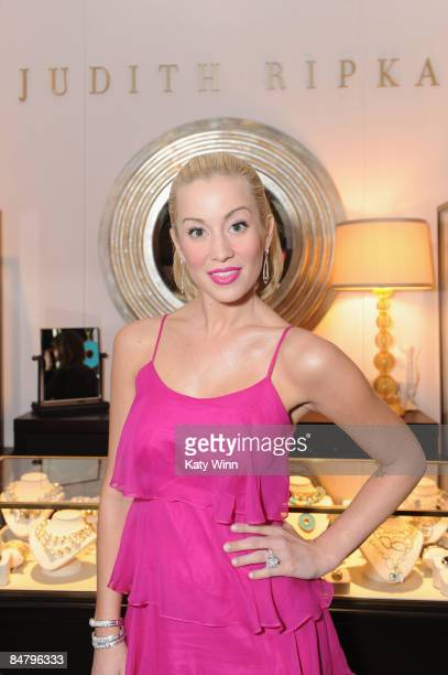 Actress Kellie Pickler poses at the Judith Ripka booth during MercedesBenz Fashion Week Fall 2009 at Bryant Park on February 14 2009 in New York City