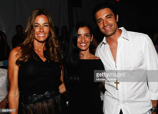 Actress Kelly Bensimon, actor Gilles Marini Carole Maini attend the L*Space by Monica 2010 fashion show during Mercedes-Benz Fashion Week Swim at the...
