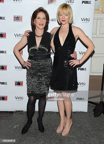 Actress Kelly Bishop and actress Emily Bergl attend the Broadway opening night of Bloody Bloody Andrew Jackson at The Bernard B Jacobs Theatre on...
