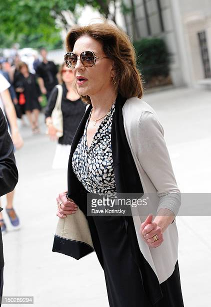 Actress Kelly Bishop attends the funeral service for Marvin Hamlisch at Temple EmanuEl on August 14 2012 in New York City Hamlisch died in Los...