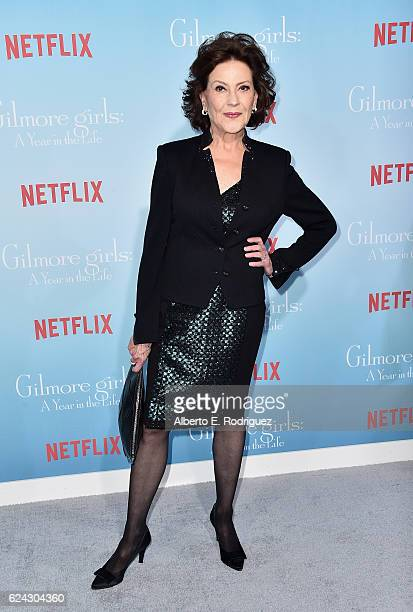 Actress Kelly Bishop attends the premiere of Netflix's 'Gilmore Girls A Year In The Life' at the Regency Bruin Theatre on November 18 2016 in Los...