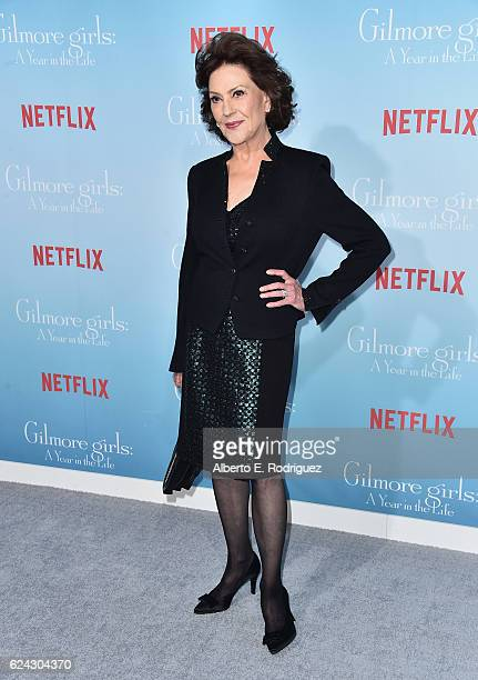 Actress Kelly Bishop attends the premiere of Netflix's Gilmore Girls A Year In The Life at the Regency Bruin Theatre on November 18 2016 in Los...