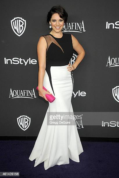 Actress Kelly Brook arrives at the 16th Annual Warner Bros. And InStyle Post-Golden Globe Party at The Beverly Hilton Hotel on January 11, 2015 in...