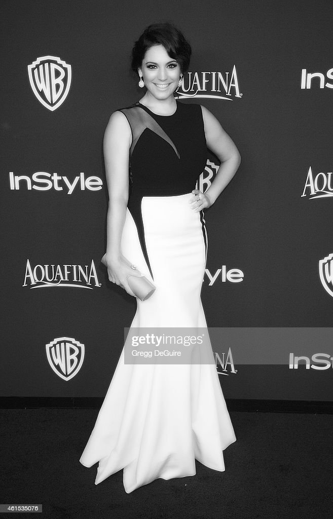 Actress Kelly Brook arrives at the 16th Annual Warner Bros. And InStyle Post-Golden Globe Party at The Beverly Hilton Hotel on January 11, 2015 in Beverly Hills, California.