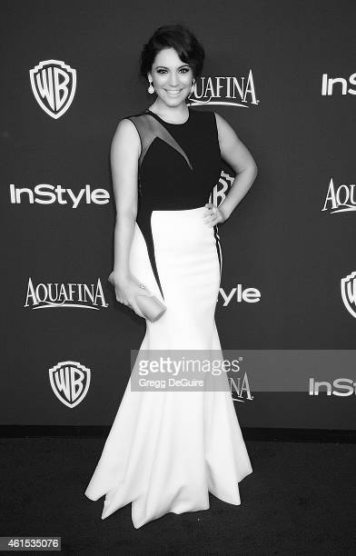 Actress Kelly Brook arrives at the 16th Annual Warner Bros And InStyle PostGolden Globe Party at The Beverly Hilton Hotel on January 11 2015 in...