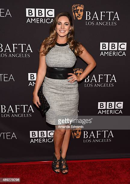 Actress Kelly Brook arrives at the BAFTA Los Angeles TV Tea 2015 at the SLS Hotel on September 19 2015 in Beverly Hills California