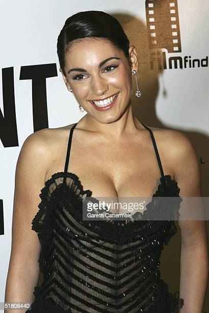 Actress Kelly Brook arrives at The British Independent Film Awards at Hammersmith Palais on November 30, 2004 in London. The annual awards, dedicated...
