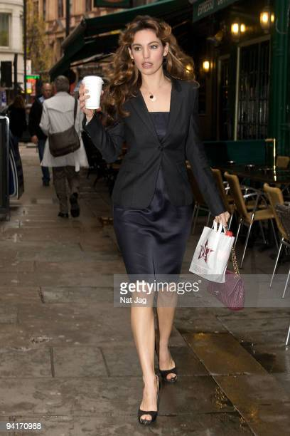 Actress Kelly Brook arrives at the Noel Coward theatre on December 9 2009 in London England