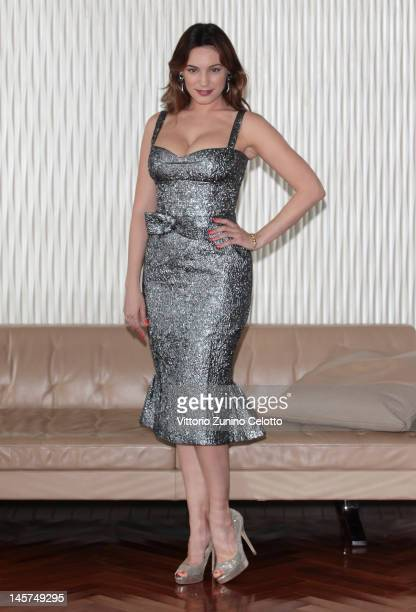 Actress Kelly Brook attends the 2012 Ischia Global Fest photocall at Terrazza Martini on June 5 2012 in Milan Italy