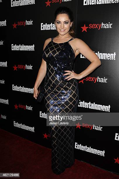 Actress Kelly Brook attends the Entertainment Weekly celebration honoring nominees for the Screen Actors Guild Awards at Chateau Marmont on January...